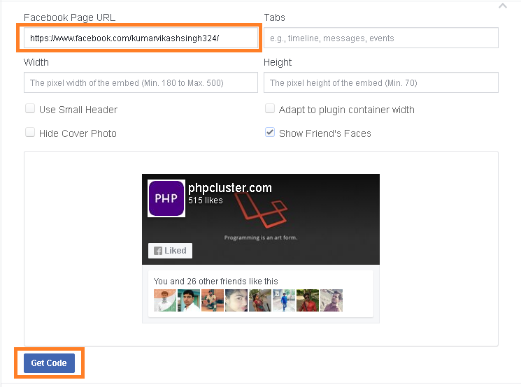 Facebook Fan Page Website Me Kaise Add kare
