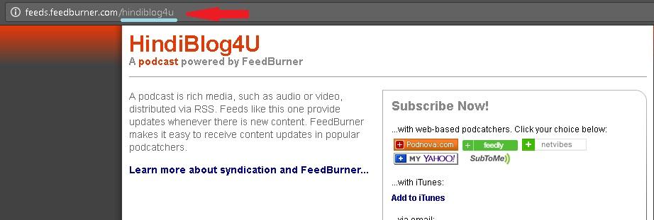 FeedBurner ID