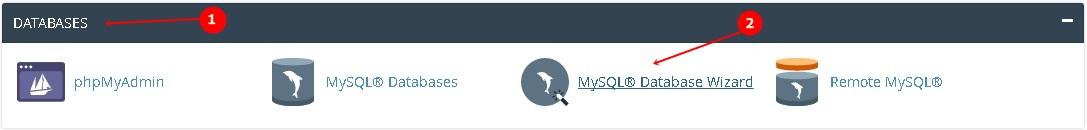 Database cPanel MySQL Wizard