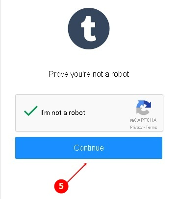 tumblr signup form robot confirm
