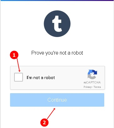 tumblr signup form robot