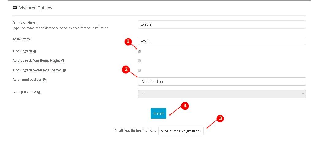 WordPress Advance Options Settings