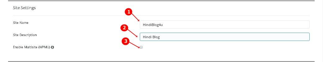 WordPress Site Settings